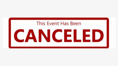 SSCG Event canceled